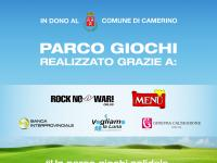 Fondazione Ginevra Caltagirone and Rock no War! donate two playgrounds in Camerino and Visso(MC).